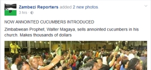 Zimbabwean Pastor Sells 'Anointed' Cucumbers To Members In Church (Photos)